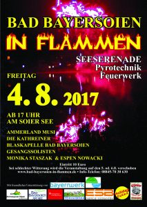 "Plakat ""Bad Bayersoien in Flammen 2017"""