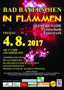 """Plakat """"Bad Bayersoien in Flammen 2017"""""""